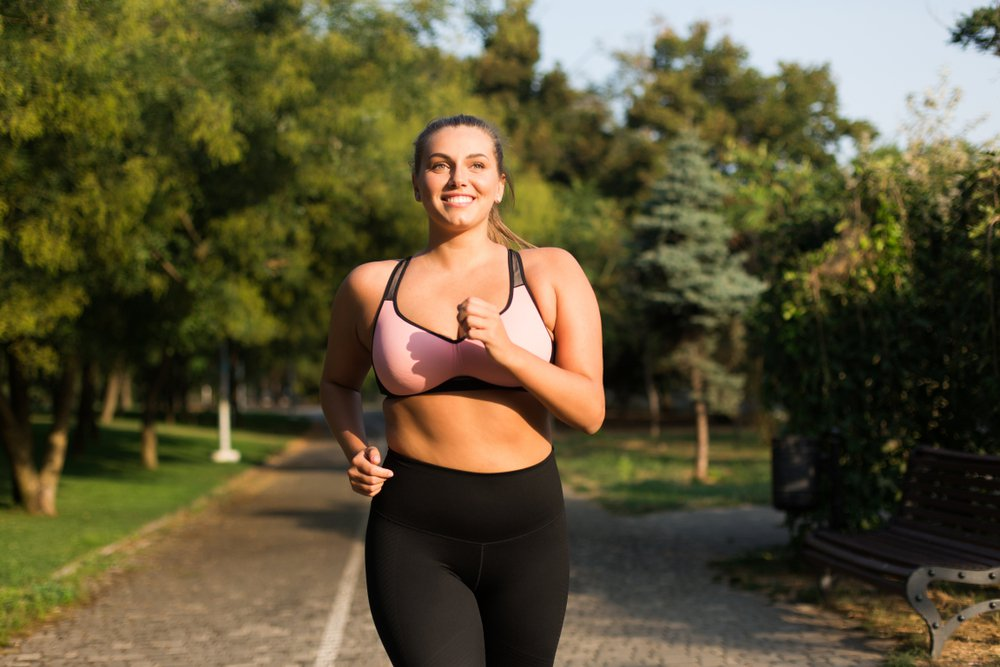 Fit woman jogging