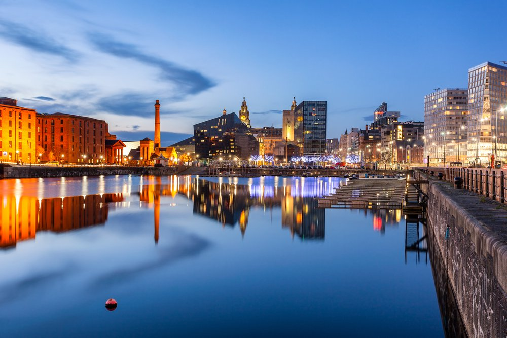 Liverpool at dusk