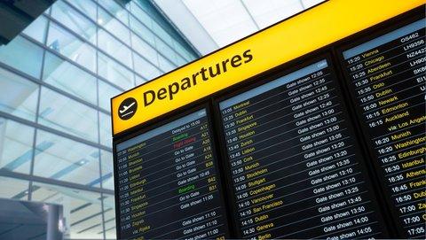 departures sign at uk airport