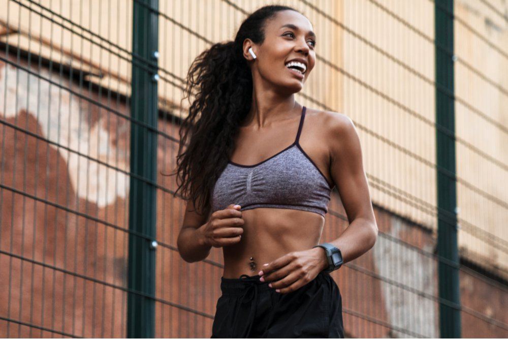 fit woman smiling