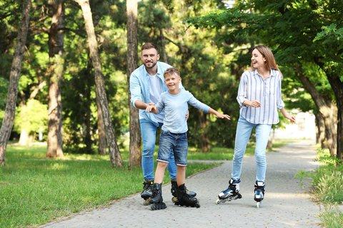 roller blading family