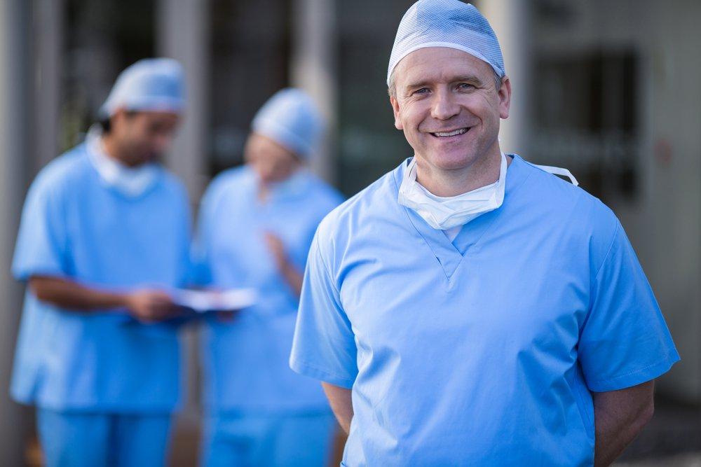 Surgeons smiling